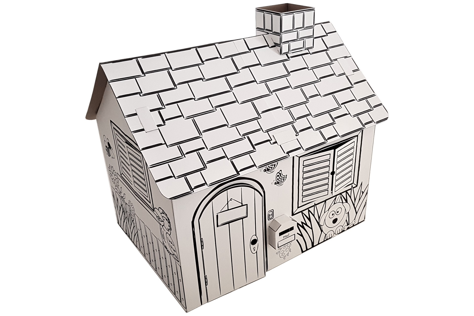 Bodey Cardboard Cubby House - Close-Up
