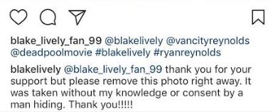 Blake Lively instagram comment
