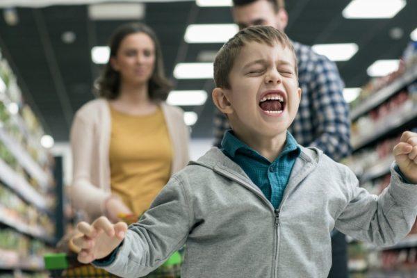 boy tantrum supermarket