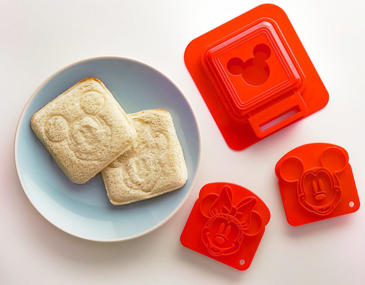 Mickey and Minnie Mouse Sandwich Stamp and Crust Cutter Set
