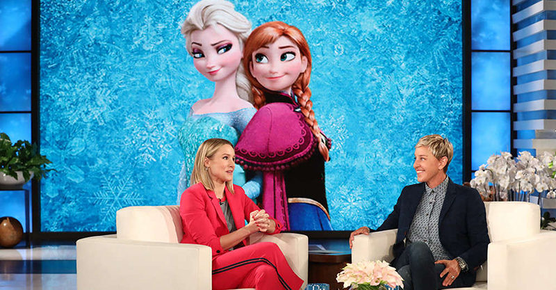 Frozen 2 chat with Kristen Bell and Ellen