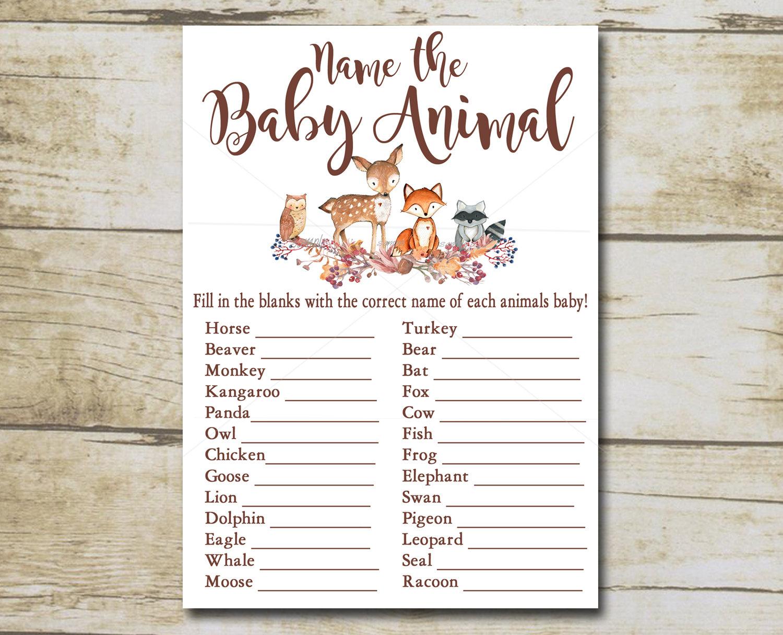 name the baby animal game