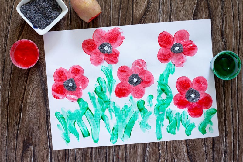 Poppy painted picture