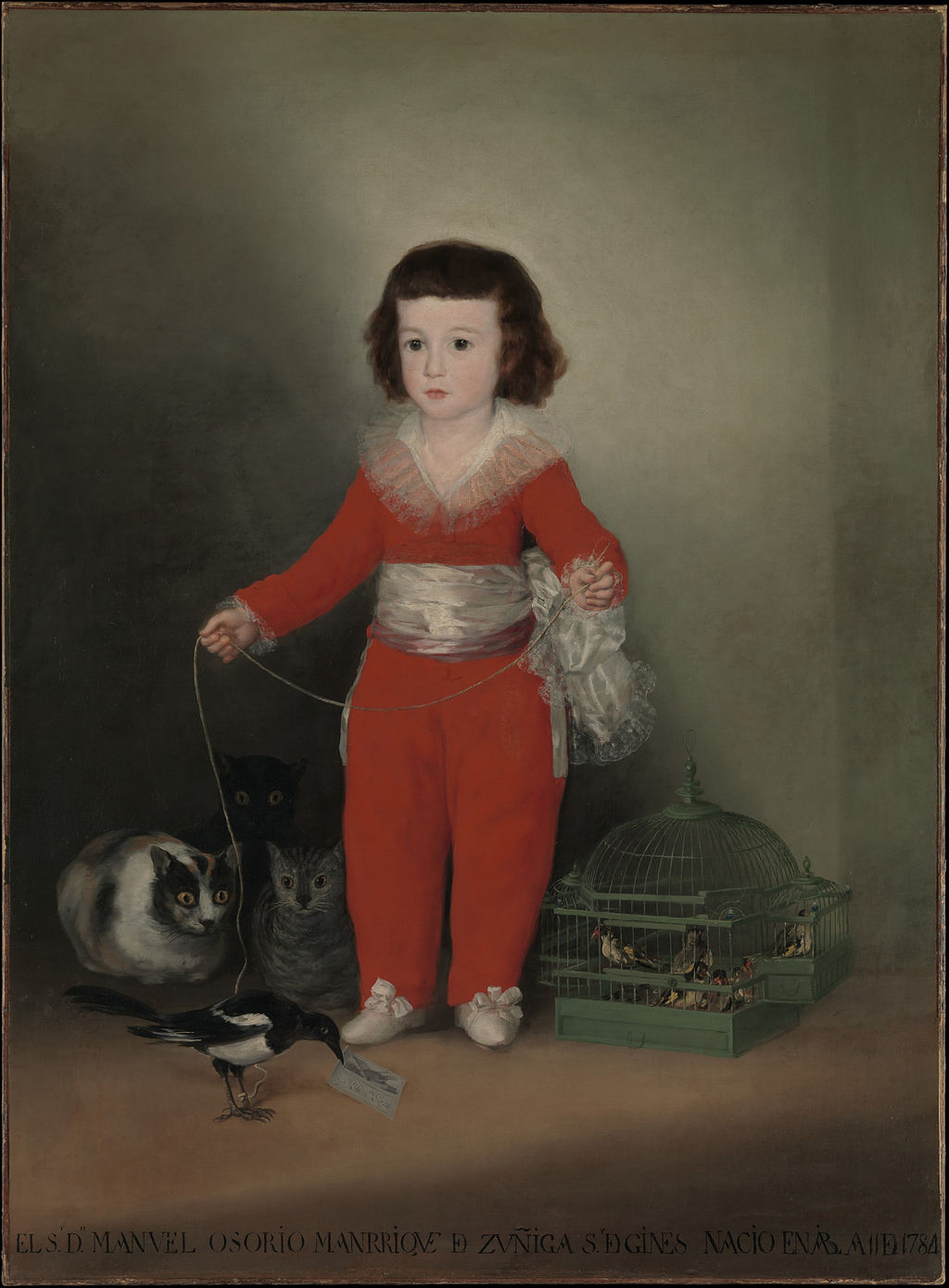 Goya, 1784. A skeleton suit or similar outfit.