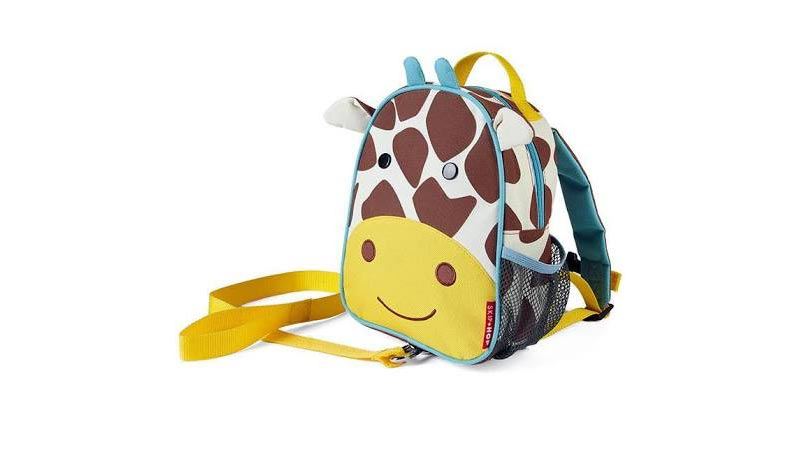 Giraffe toddler backpack with leash