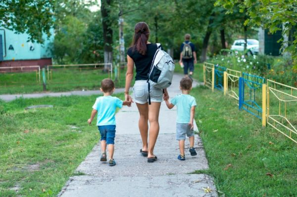Nanny with kids