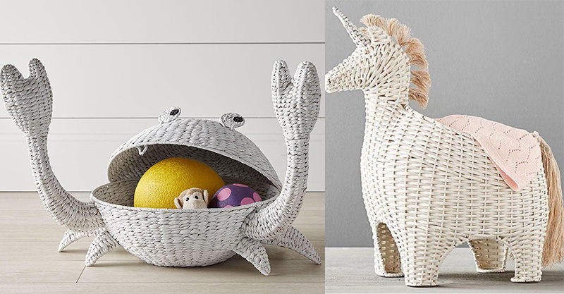 & The CUTEST new nursery storage baskets from Pottery Barn Kids
