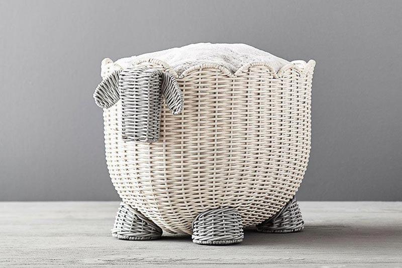 Pottery Barn sheep storage basket