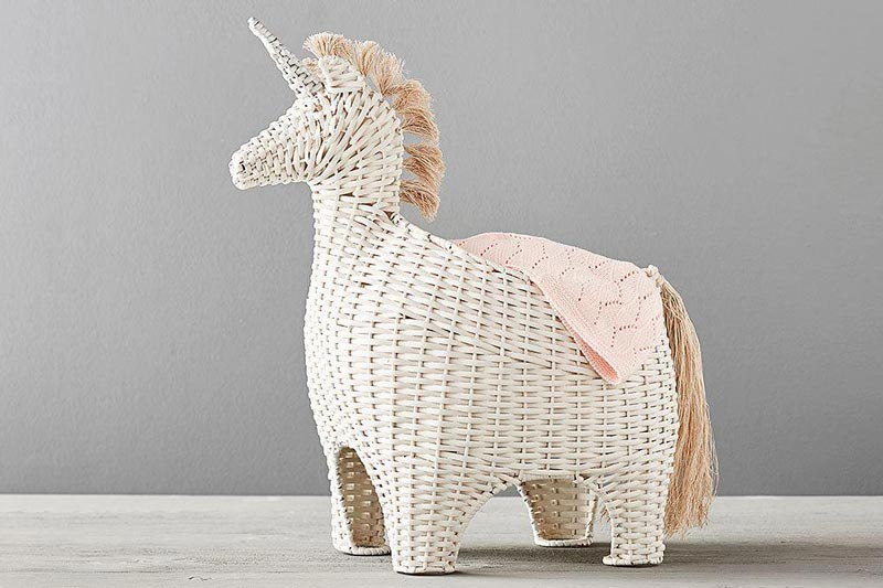 Unicorn basket from Pottery Barn