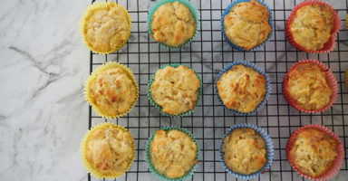 Apple and Banana Muffins with no added sugar