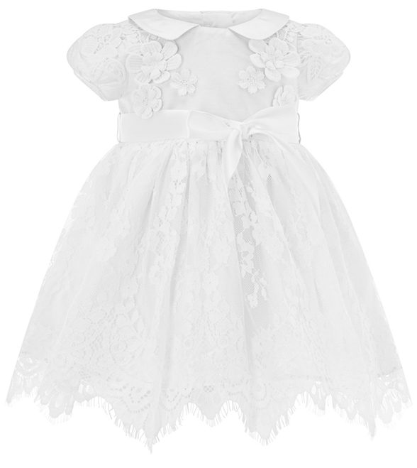 BABY PROVENZA S SILK CHRISTENING GOWN