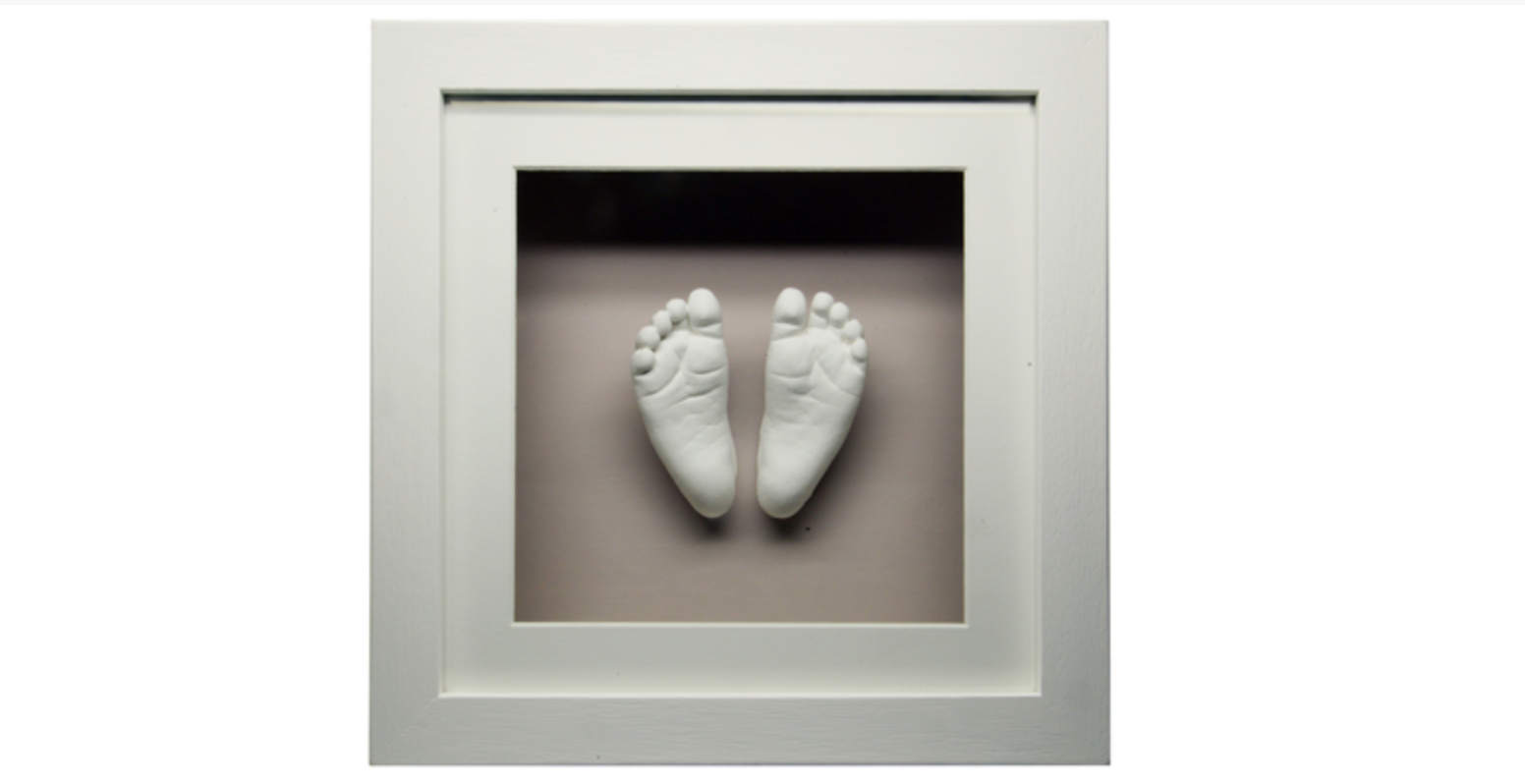 Framed Plaster Cast Baby Feet