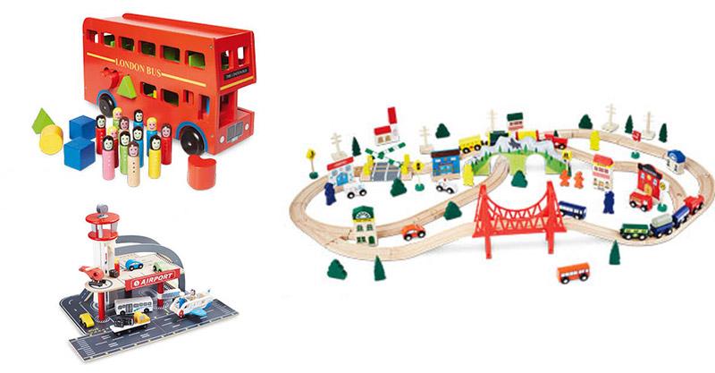 Aldi wooden transport toys
