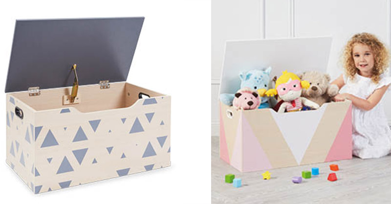 Aldi wooden toy boxes