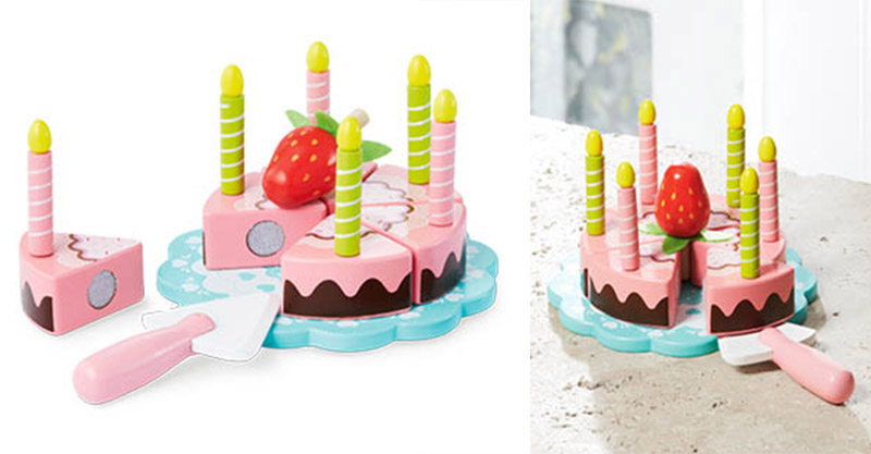 wooden fraction cake