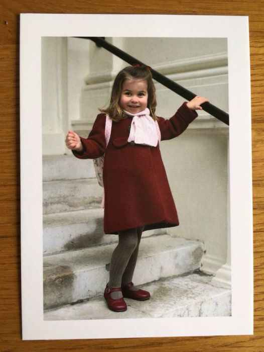 Princess Charlotte birthday thank you note