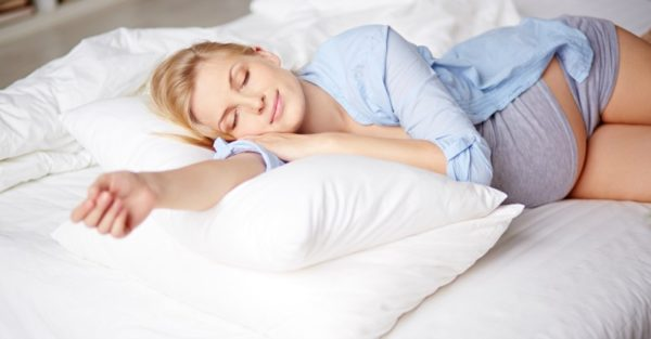 Sleeping pregnant woman