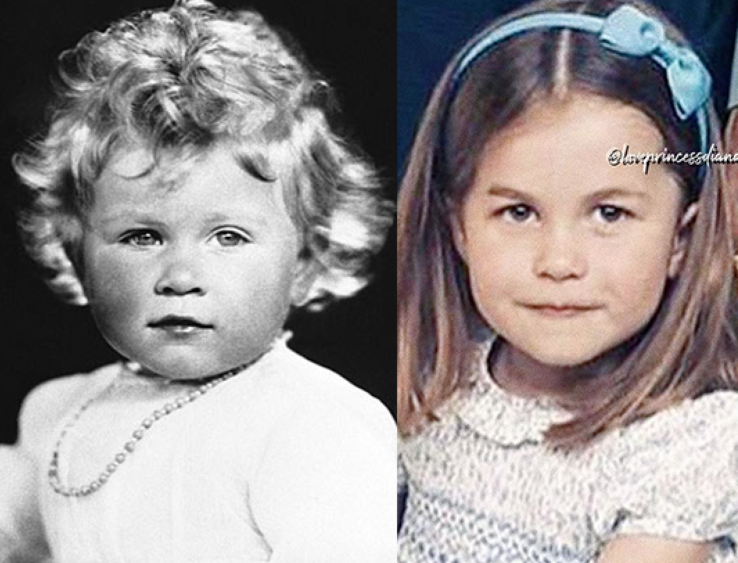 Princess Charlotte and young Queen