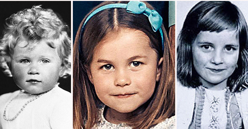 Prince Charlotte, Queen Elizabeth and Princess Diana