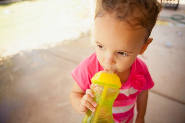 little girl sippy cup