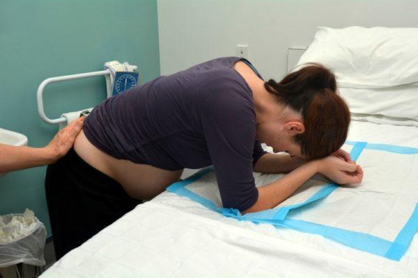 woman giving birth