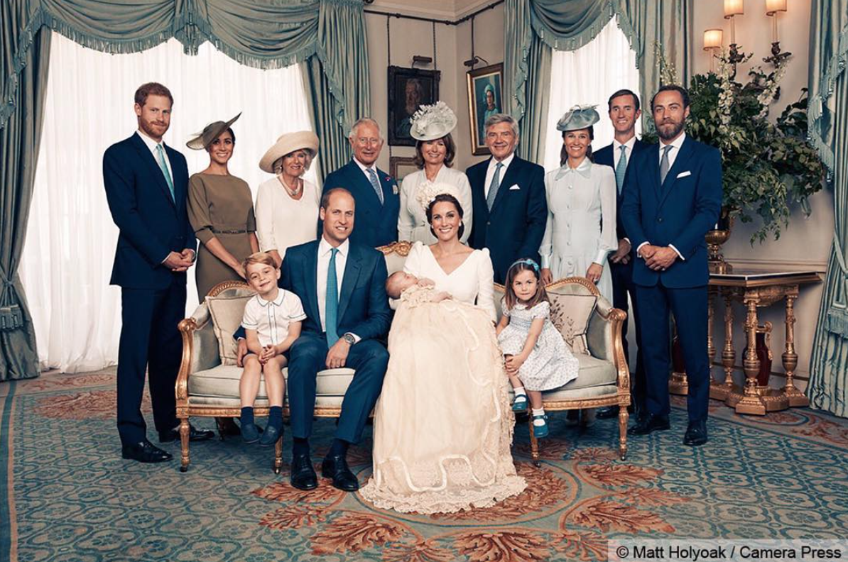 Royal family at Prince Louis' christening