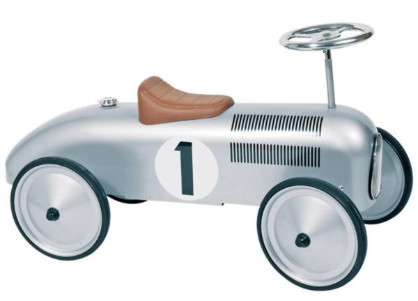 Goki ride on car in silver