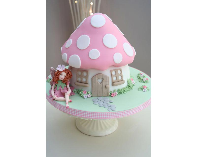 Fairy party cake - pinterest image