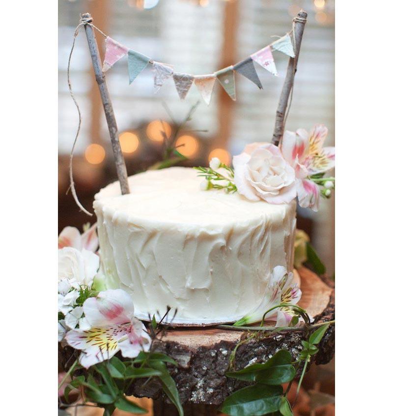 Flower cake for fairy party -pinterest image