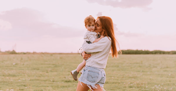 Mum and toddler boy / girl child