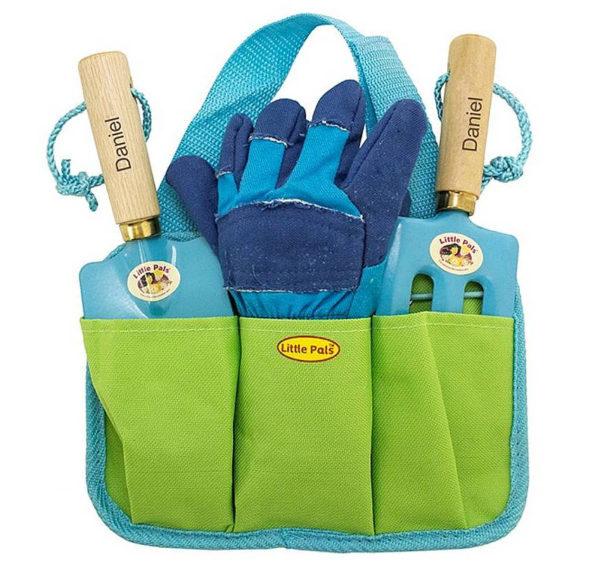 Personalised garden tool set for kids