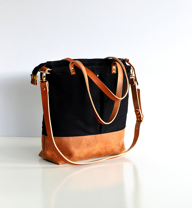 Forest Bags Diaper Tote - Black and Toffee