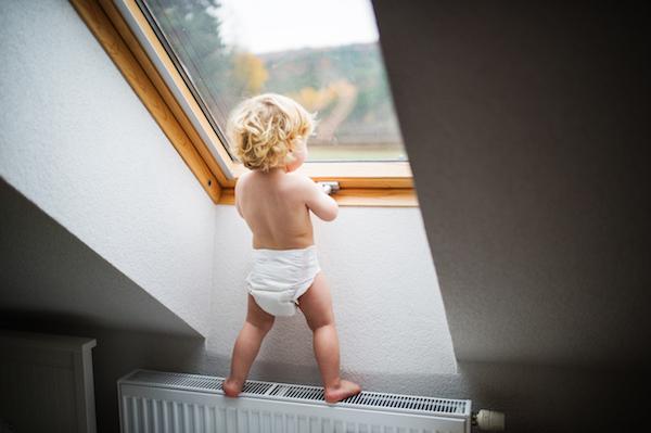 Toddler boy in nappy