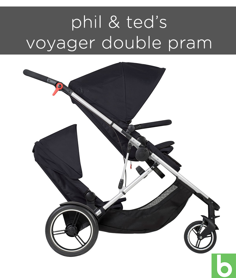 phil & ted's voyager double pram