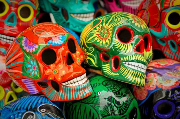 Decorated colorful skulls