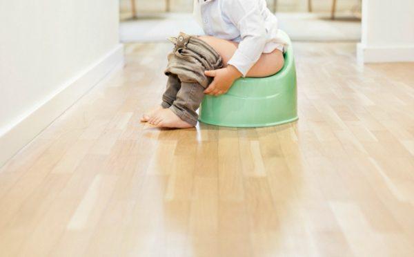 child on potty