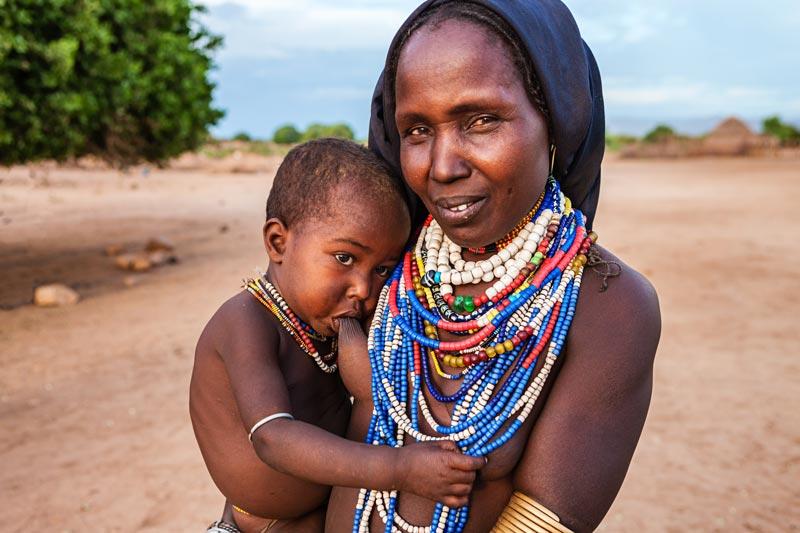 Breastfeeding Ethiopian mother