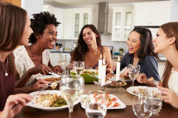 girls dinner party