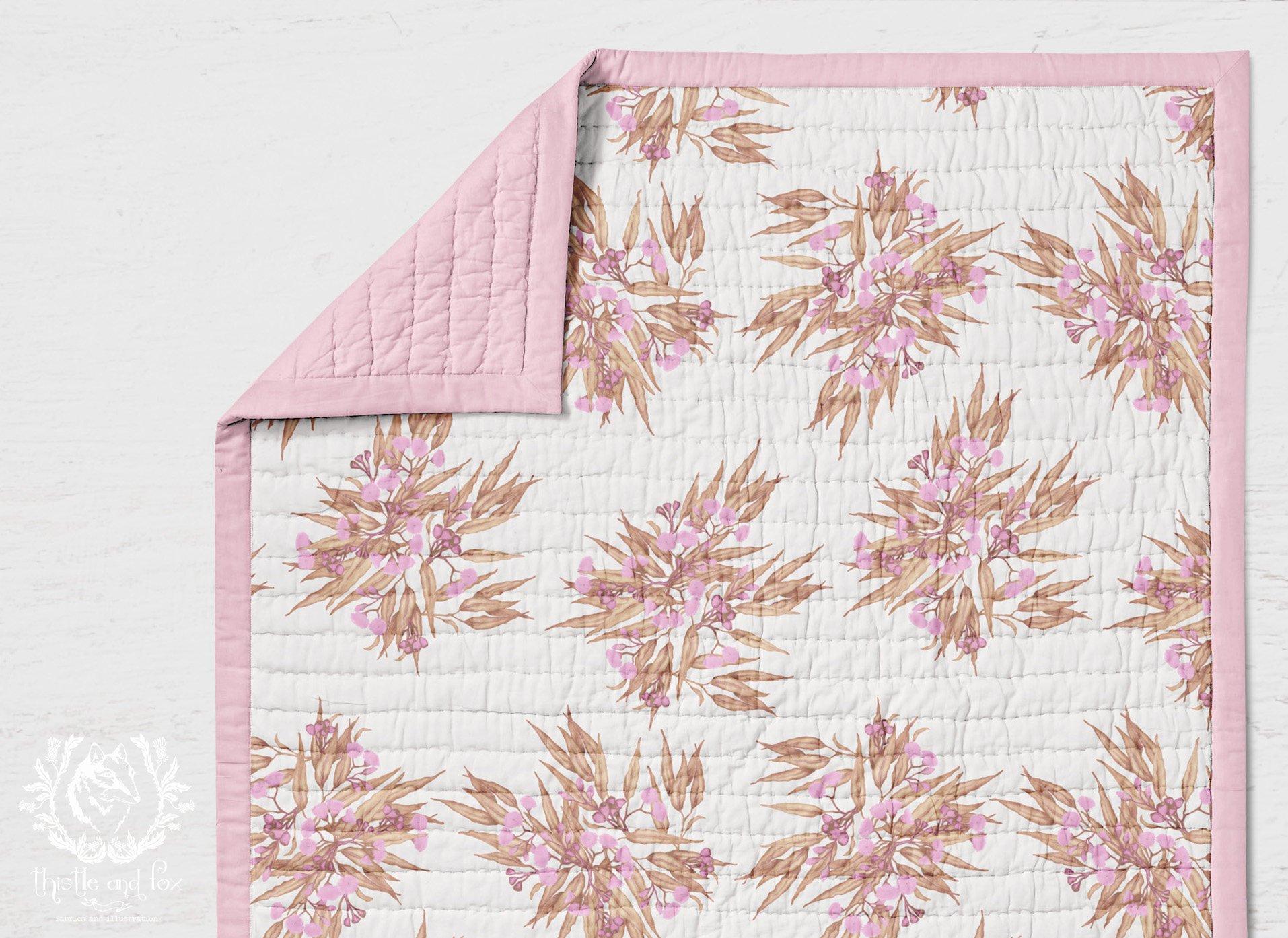 Eucalyptus cot quilt
