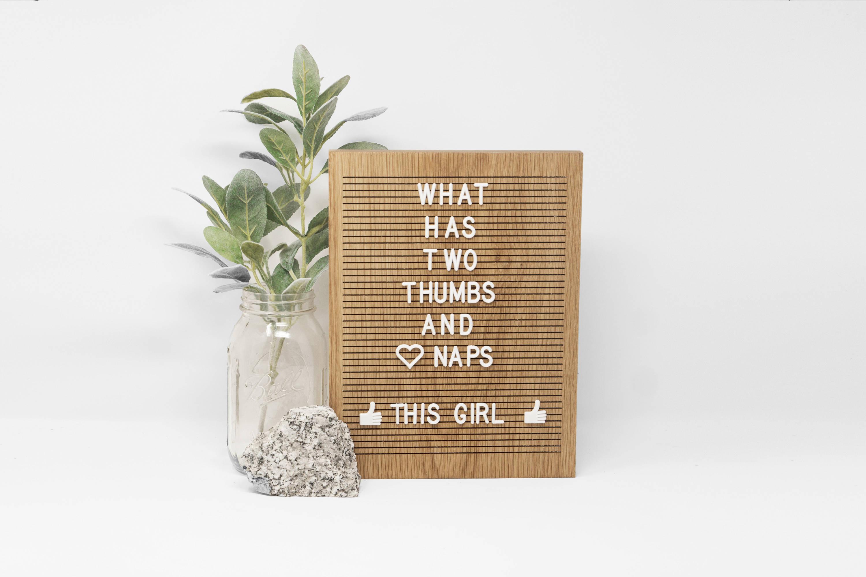 wooden letter board