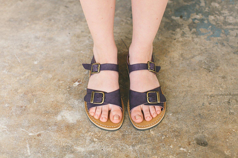 Sweet Aubergine sandals