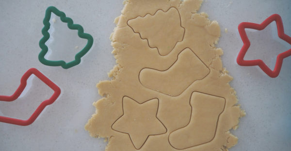 Christmas cut-out biscuits
