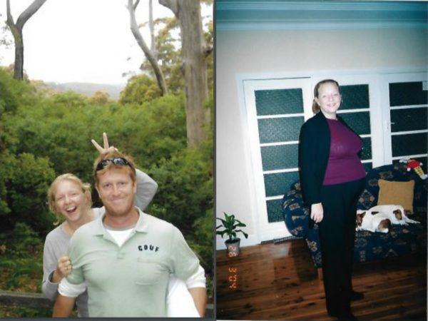 Lea & Chris, then pregnant