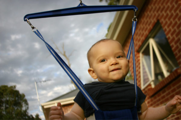 baby in jumper