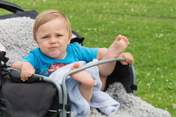 baby in pram carriage