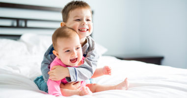 The number one rule that helps babies successfully share a room with siblings