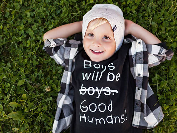 Boys will be good humans tee