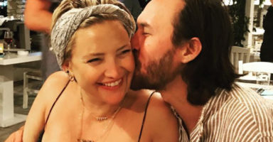 This clip of Kate Hudson's partner bonding with their newborn will melt you