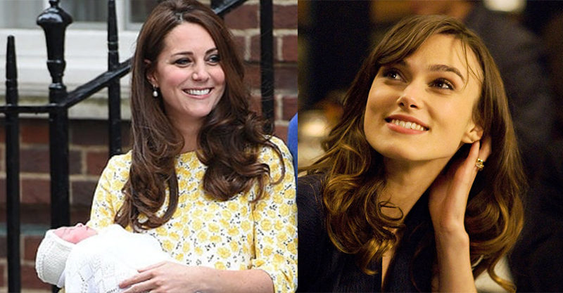 Kate Middleton and Keira Knightley