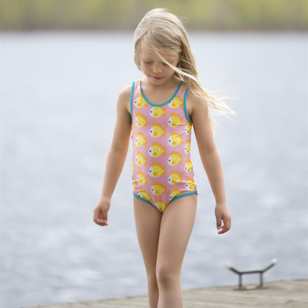 Maxomorra one-piece swimsuit - Goldfish